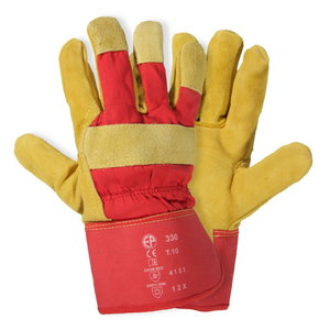 Gloves, cowhide, cotton back XL/10