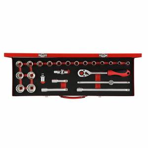 Padrunite kmpl 1/2´´ 10-32mm 24tk R69004024, Gedore RED