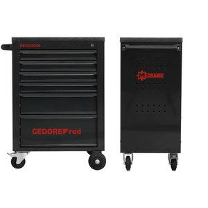 Įrankių vežimėlis MECHANIC BLACK 6 stalčiai 910x628x418, Gedore RED