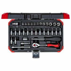 Socket set size4-13mm 33pcs R49003033, Gedore RED
