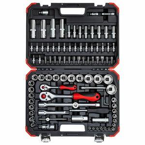 Socket set 1/4+1/2 94pcs R46003094, Gedore RED
