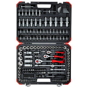 Socket set 1/4+3/8+1/2 172pcs R45603172, Gedore RED