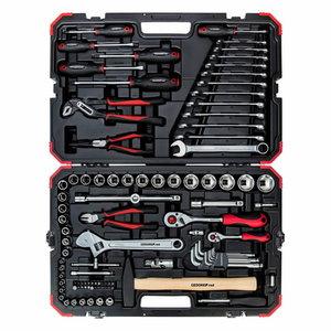 Socket set 1/4+1/2 size10-32mm 100pcs R46003100, Gedore RED