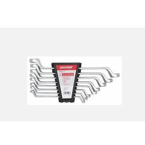 Dvigubų žiedinių raktų komplektas 6-22mm, 8vnt R01105008, Gedore RED