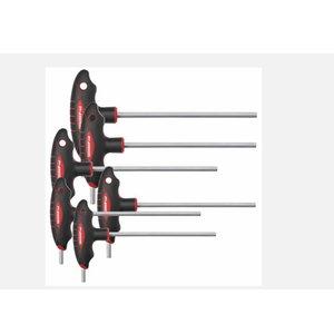 T-Skrūvgriežu komplekts seškanšu 2.5-8mm R38672006  6 gb.  3, Gedore RED