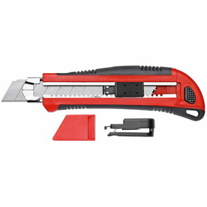 Cutter knife 5 blades-w. 25mm with clip R93200025, Gedore RED