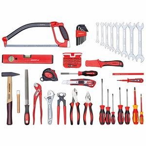 Tööriistade kmpl BASIS tööriistakohvris 72tk R21650072, Gedore RED