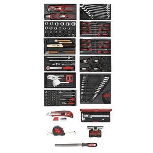 Įrankių kompl. 11xCT dėklai + įrankiai, 166 vnt R21010002, Gedore RED