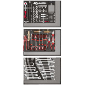 Įrankių komplektas 3xCT-dėklai, 129vnt R21010004, Gedore RED