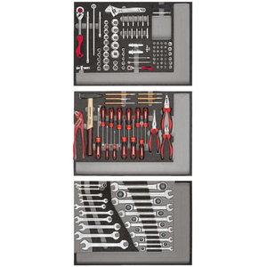 Instrumentu komplekts 3xCT-moduļi 129gab. R21010004, Gedore RED