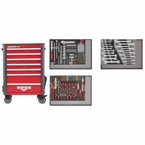 Įrankių vežimėlis+ įrank. WINGMAN raudonas, 129vnt R22071004, Gedore RED