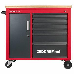 Įrankių vežimėlis MECHANIC+ 6 stalčiai 988x431x935 R20400006, Gedore RED