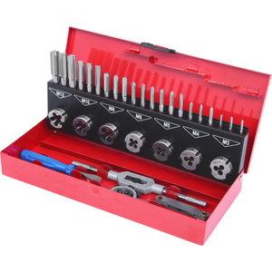 keermelõikurite ja puuride kmpl 32-osa HSS Co, KS Tools