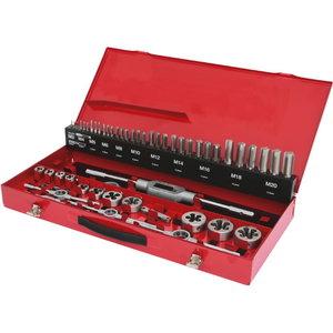 keermelõikurite ja puuride kmpl 54-osa HSS Co, KS Tools