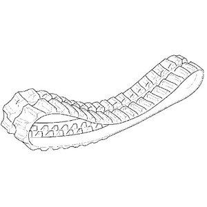 Track rubber 35 link, JCB