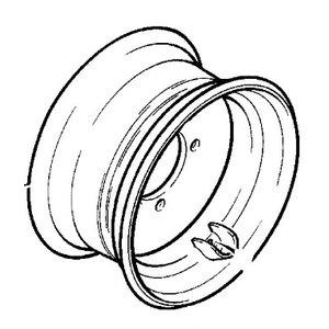 Rim wheel 11x20, JCB