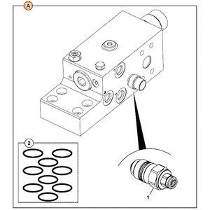 Vožtuvas hidraulinės sistemos, HBCV, JCB