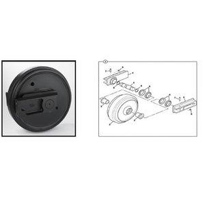 Idler wheel with bracket, JZ140, JZ235, JS160-200, JCB