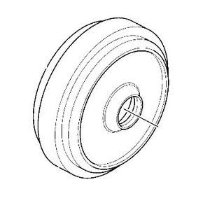 Idler wheel without bracket, JCB