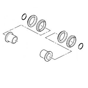 Idler wheel seal kit, JZ140, JZ235, JS160-200, JCB