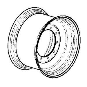Wheel rim TW20Bx30, JCB