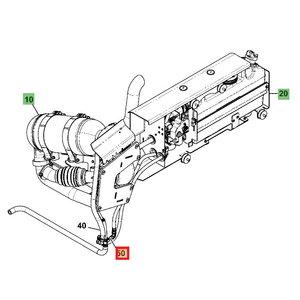 Coolant hose DM/CV T4F, JCB