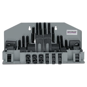 Clamping tool kit 58 pcs, Optimum