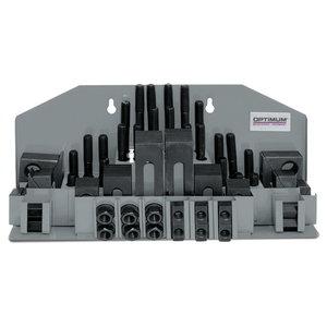 Clamping tool kit 58 pcs, Optimum