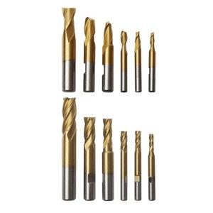 End mill setEnd mill set HSS, 12-piece, Optimum