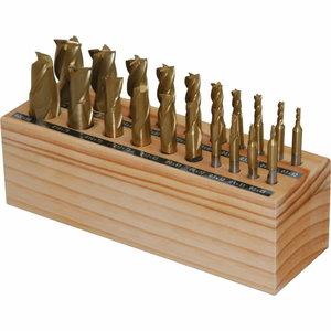 End mill kit HSS 20 pieces, Optimum