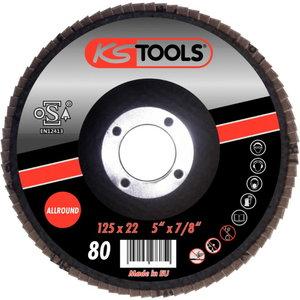 Allround flap wheel, curved, Ø 125mm, grit 40, Kstools