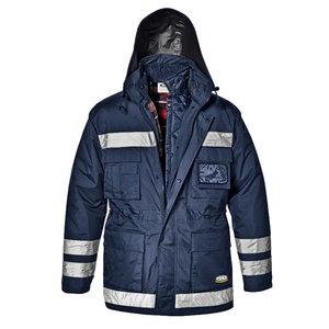 Ziemas jaka 4-in-1 POLICE, zila ar atstarotājiem, L, Sir Safety System