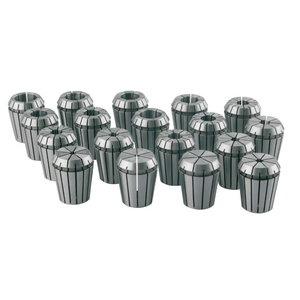 Collet kit, 1 - 16 mm, 15 pcs. ER 25, Optimum