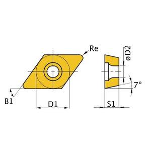 Treiterad HM ISO DCMT11T304 5tk, Optimum