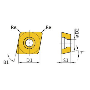 HM replacement inserts ISO CCMT09T304 5pcs, Optimum
