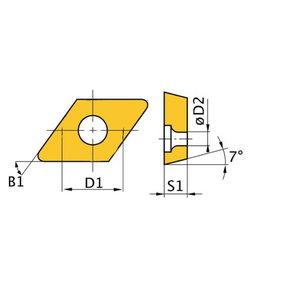 Atsarginis intarpas ISO WNMG060408 5 vnt, Optimum