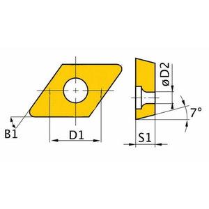 Atsarginis intarpas ISO DNMG150408 5 vnt, Optimum