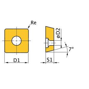 Spare insert ISO WNMG060408 5pcs, Optimum