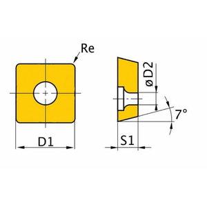 Spare insert ISO PSDNN3232P15 5pcs, Optimum
