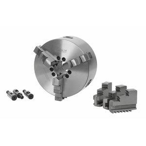 Trižiaunis spaustuvas tekinimui ø 200 mm Camlock DIN ISO, Optimum