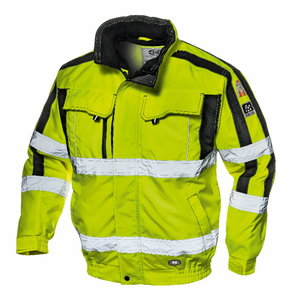 Kõrgnähtav talvejope 4-1-s Contender, kollane, Sir Safety System