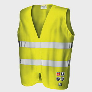 Vest MC3538E1S  antistatic, hi-vis CL2, yellow, Sir Safety System