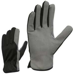 Winter gloves synthetic leather  with warm fleece lining