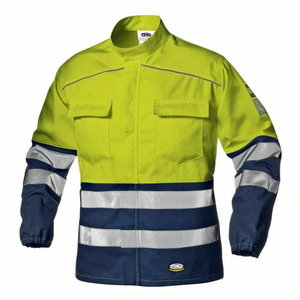 Keevitaja jakk multi Supertech kõrgnähtav CL3, kollane/sinin