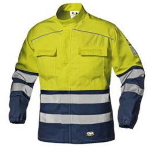Keevitaja jakk multi Supertech kõrgnähtav CL3, kollane/sinin 54, Sir Safety System