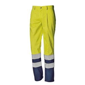 Kõrgnähtavad multi püksid Supertech kollane/sinine 58
