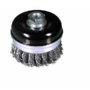 Cup brush STBZ 65x20xM14x2,0 steel knotted wire 0,5mm, RHODIUS Schleifwerkzeuge