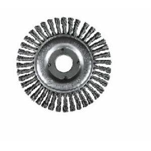Wheel brush SRBZ 125x13x28x22,2mm Steel Wire, knotted, 0,50m, Rhodius