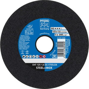 Pjovimo diskas 125x1,6mm SG STEELOX, Pferd