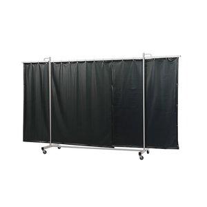 Welding screen w.curtain, green 9, (W)355cm, (H)210cm RobustoTriptych, Cepro International BV
